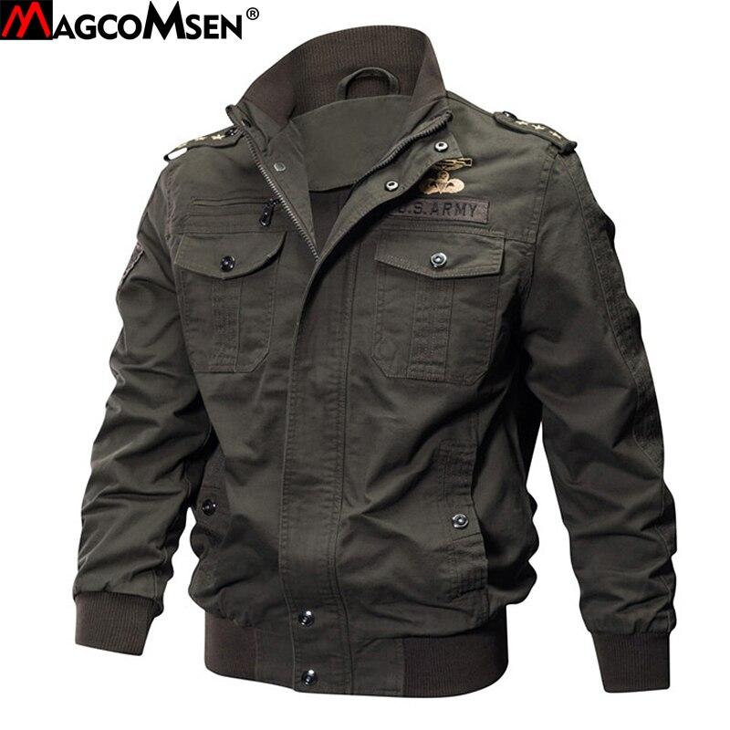 MAGCOMSEN ジャケット男冬軍事爆撃機ジャケットとコート男軍の戦術的なジャケットウインドブレーカー Jaqueta Masculino SSFC 15  グループ上の メンズ服 からの ジャケット の中 1