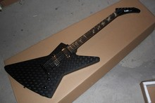 new + factory black electric guitar man to wolf fingerboard ESP explorer custom shop electric guitar with hardcase(China)