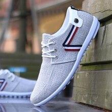 Zapatos informales de lona para hombre, calzado plano a la moda, 2020