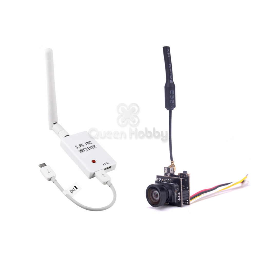 Mini 5.8G FPV OTG Receiver UVC Video Downlink VR Android Phone+25MW VTX 800TVL FPV Camera Built-in Transmitter for Mini Quad