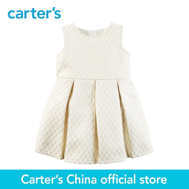 ef6c84a8b17e4 Carter's 1pcs baby children kids Metallic Jacquard Floral Dress 120G095,  sold by Carter's China official store