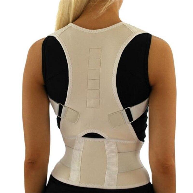 Los hombres ortopédica volver correa de soporte correcta postura Brace Correcteur de postura 10 imanes XL XXL B002 magnético Corrector de postura