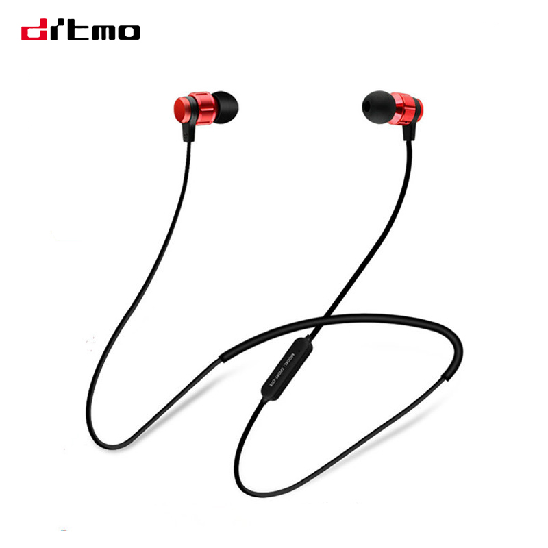 Drtmo Magnetic Adsorption Bluetooth Earphone Neckband Wireless Sports Running Headset With Microphone adsorption