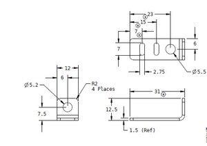 """SWMAKER 2 шт cnc машина """"сделай сам"""" стальной ремень ГРМ зажим ГРМ Зажим для ремня ГРМ с функцией натяжения для X-Carve"""