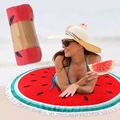 New Microfiber Round Beach Towel 150cm Bath Towels with Tassel Printed Summer Women Sandy swimming Sunbath Baby Blanket covers