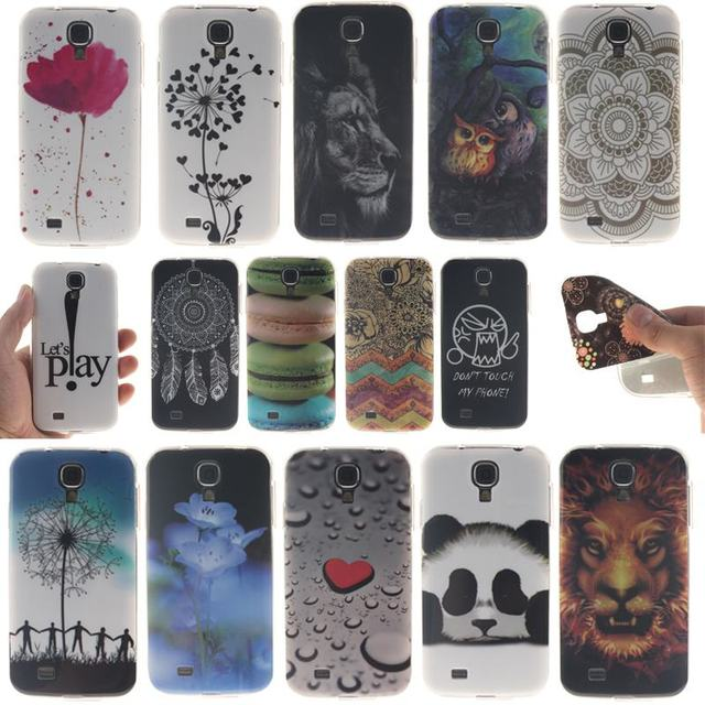 For Samsung Galaxy S4 i9500 i9502 GT-i9500 GT-i9505 GT-i9506 Case Silicone Cartoon for coque Galaxy S4 i9500 Case Phone shell