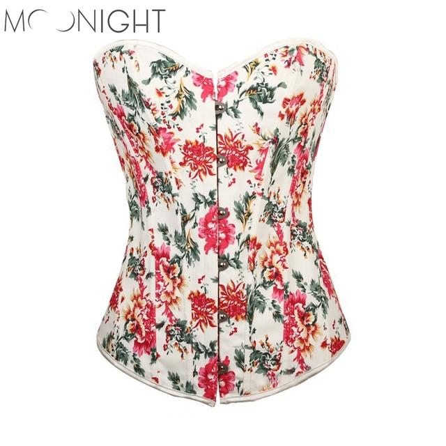 Tamaño Más Sexy Ropa Interior de Clubwear Mujeres Estatinas Overbust Corsés de Encaje Floral vestido De Novia Mujeres corsés Bustiers Top