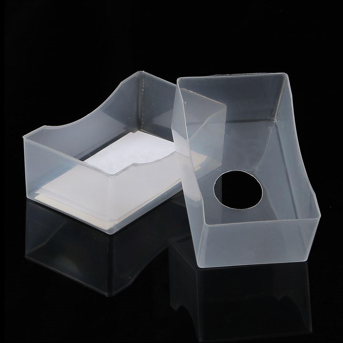 10 x business card box plastic holders clear craft beads container 10 x business card box plastic holders clear craft beads container storage boxes white in business cards from office school supplies on aliexpress colourmoves