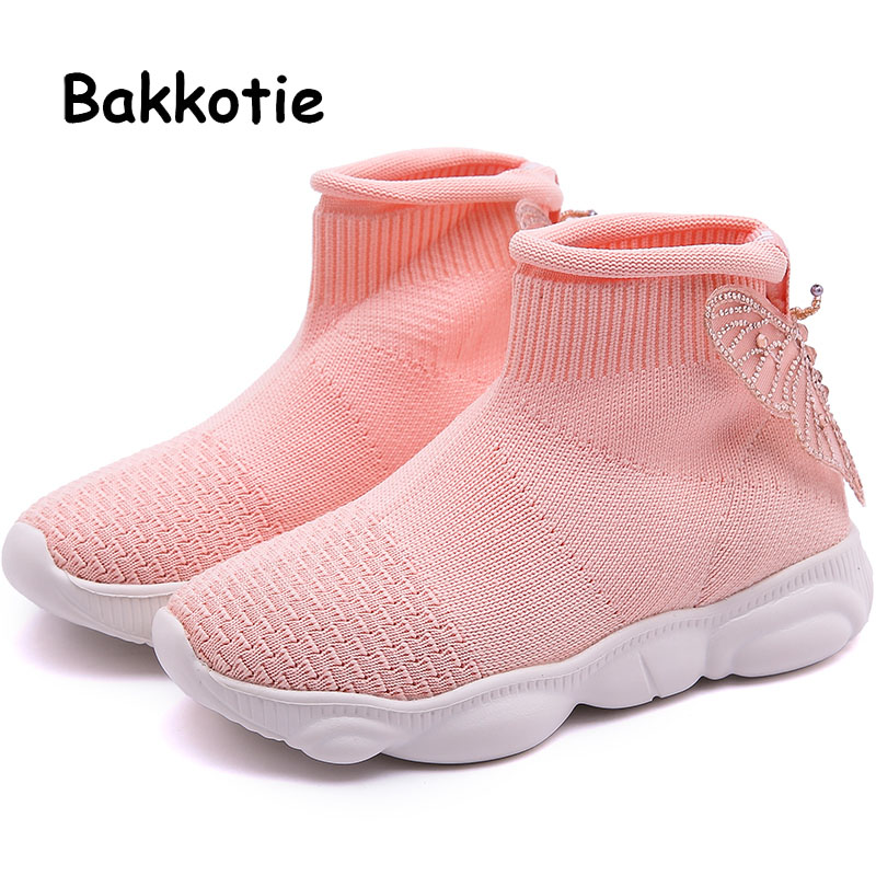 Bakkotie 2019 Spring Girls Fashion Butterfly Casual Shoes Summer Baby Breathable Sports Shoes Kids New Pink Soft Brand SneakersBakkotie 2019 Spring Girls Fashion Butterfly Casual Shoes Summer Baby Breathable Sports Shoes Kids New Pink Soft Brand Sneakers