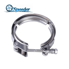 2.5Inch Universal Stainless Steel Exhaust Turbo Downpipe V-Band Clamp Automobiles Accessories Customizalbe Fitment Quick Release