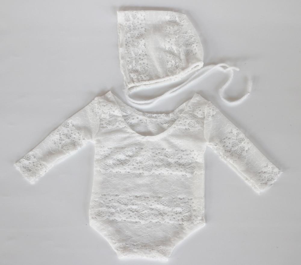 2017 Handmade Newborn Lace Romper Baby Photography Props Baby Girl Lace Romper Newborn C ...