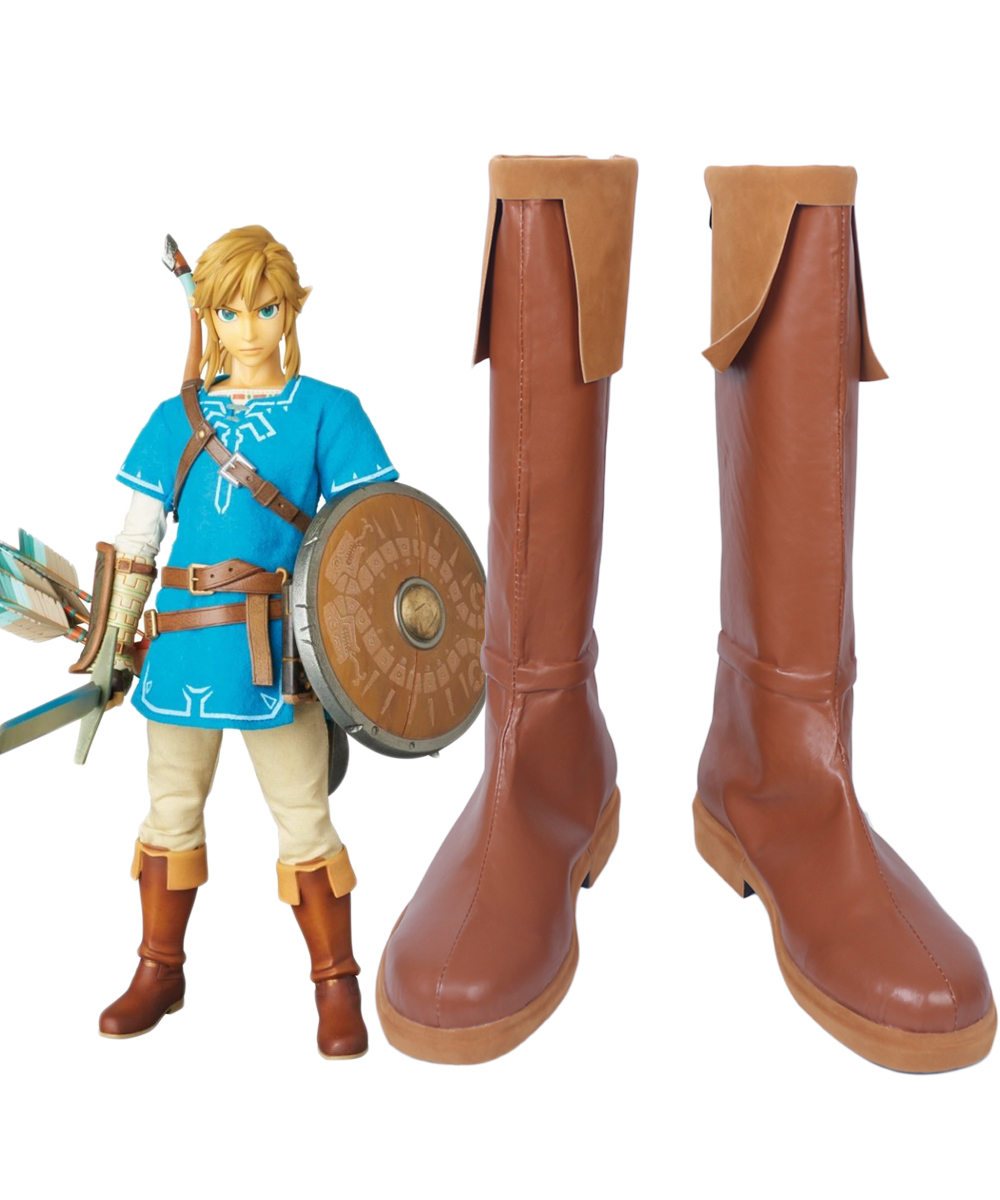 The Legend of Zelda Breath of the Wild Link Cosplay Boots Shoes Unisex Custom Made