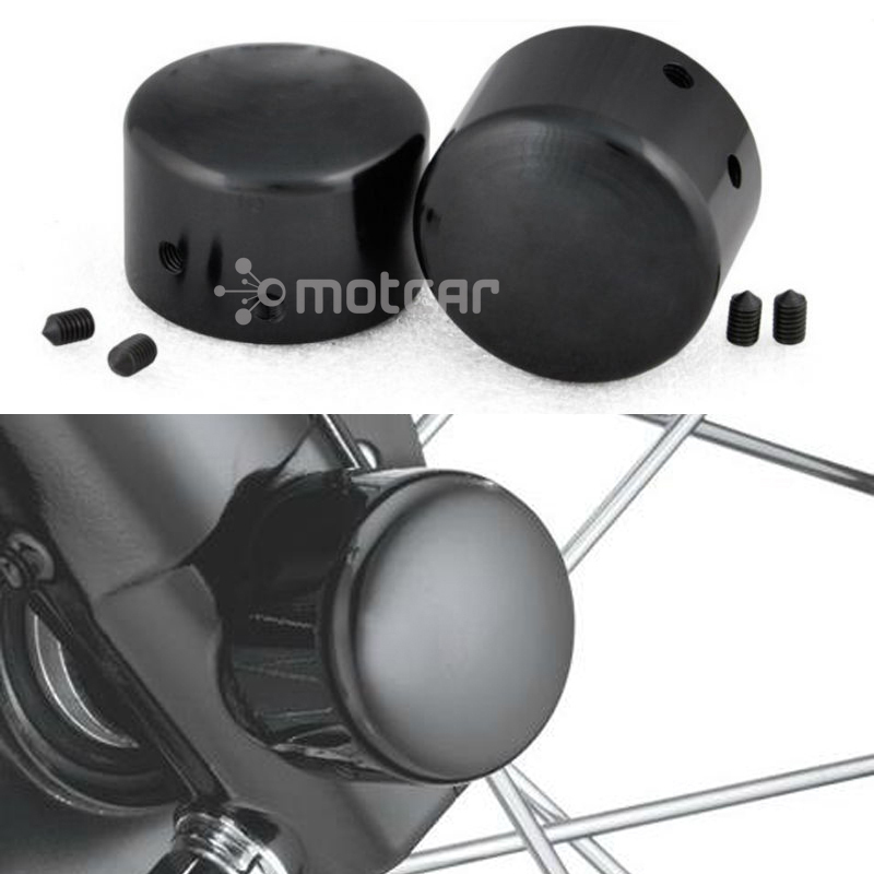 Free Shipping Black Front Axle Cover Nut Cover Bolt With Logo Fit For Harley Sportster XL883 1200 Dyna Softails Electra Glides mtsooning timing cover and 1 derby cover for harley davidson xlh 883 sportster 1986 2004 xl 883 sportster custom 1998 2008 883l