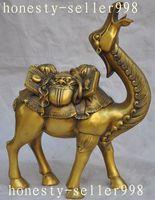 12 Китайский Фэншуй латунь богатство голова льва благоприятный животных верблюд ламы статуя