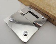 Нержавеющая сталь 304 стекло зажим утолщенной точность папка литья ванные комнаты (180 Градусов открыт)
