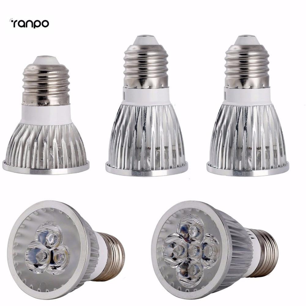 1PCS Lampada Led Spotlight Dimmable AC110V 220V 9W 12W 15W E27 Led Bulb Focoe Refletor Bombillas Downlight 8 Colorful LED Lights