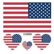 10pcs/pack American National Flag 6X6CM Waterproof Temporary Tattoo Stickers