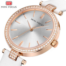 MINI FOCUS 2019 New Luxury Top Brand Women Watch Simple Style Leather Casual Quartz Watch Ladies Waterproof Fashion Wristwatch