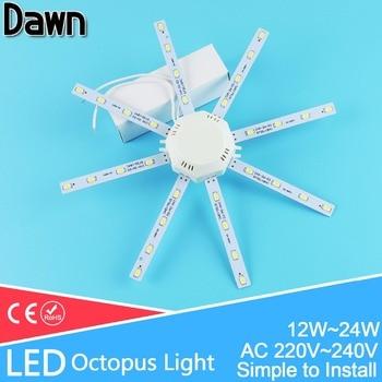 Светодиодная потолочная лампа 12 Вт 16 Вт 18 Вт 20 Вт 24 Вт 220 В печатная плата модифицированный светильник Светодиодная лампа пластина Осьминог ...