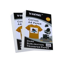 V-HONG cotton A4 size sublimation paper nice Dark heat transfer for T-shirt