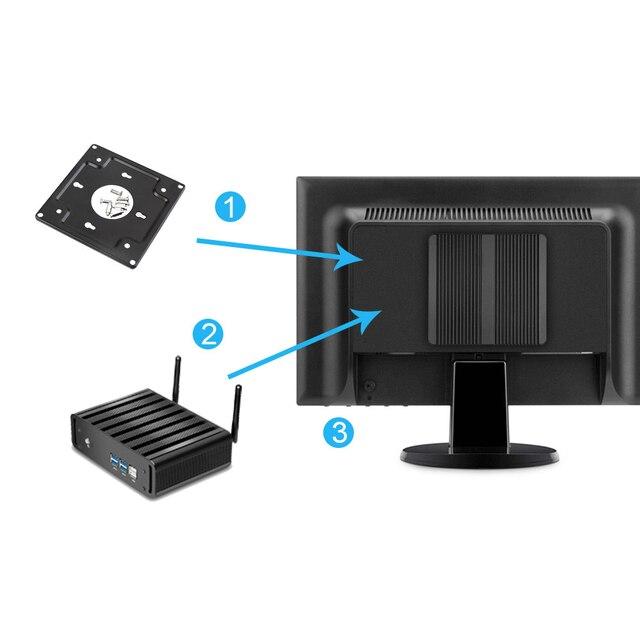 XCY мини-ПК Intel Core i3 4010U 5005U i5 4200U 5200U i7 5500U офисный компьютер HTPC Windows 10 Linux HDMI WiFi Gigabit Ethernet 4