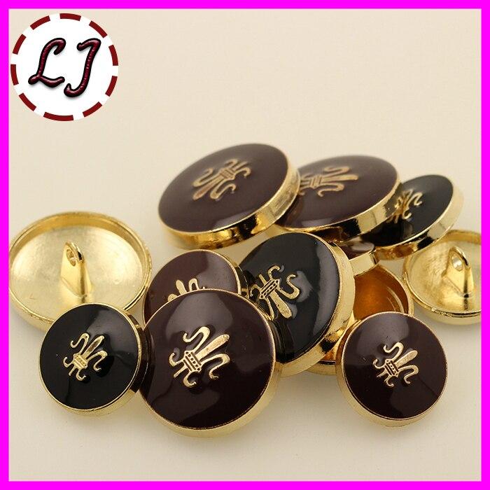 Nuevo 10 unids/lote hermosos botones de oro de metal botón botón de costura accesorios de ropa scrapbook diy 15mm/20mm