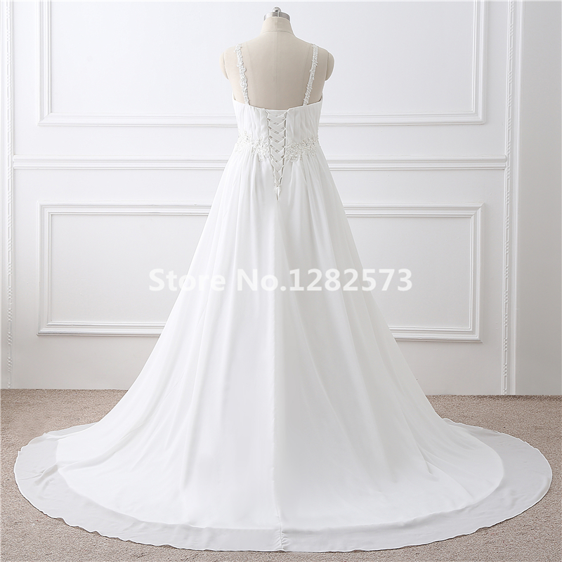 In Stock Maternity Wedding Dress Lace Up Plus Size Wedding Dresses ...