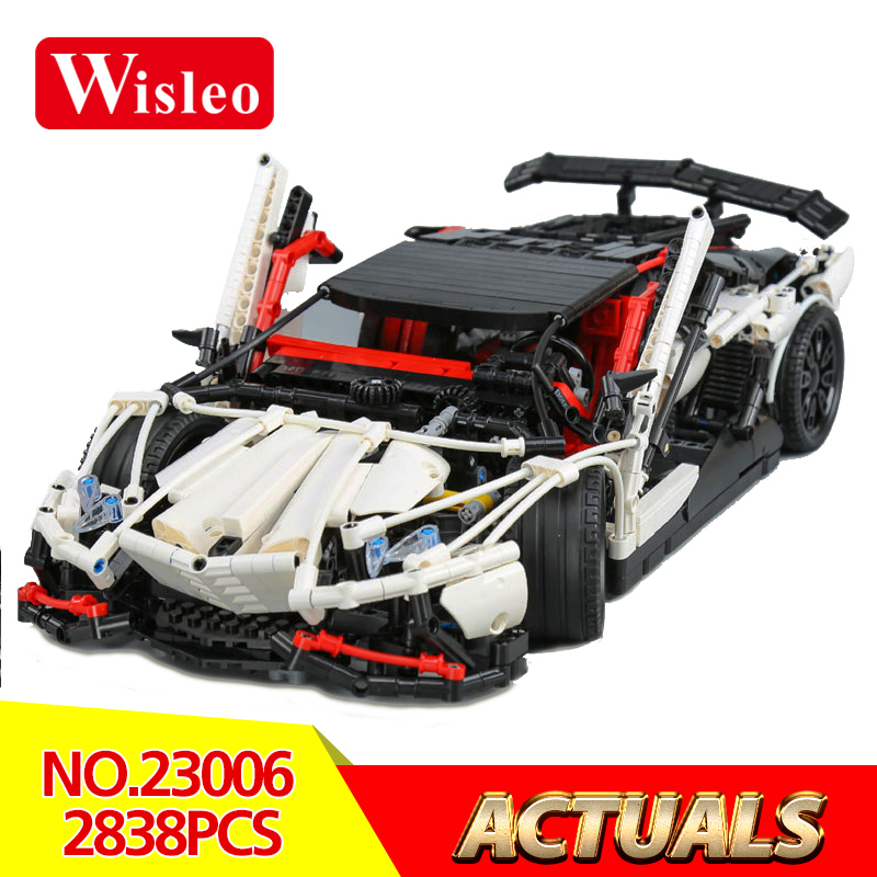 Wisleo 23006 2838Pcs Genuine MOC Technic Series The Hatchback Type R Set Building Blocks Bricks Educational Toys LegoINGlys Gift