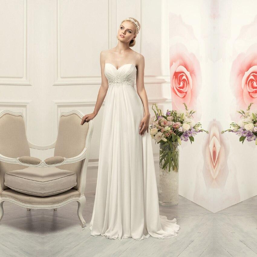 Wedding Gown Chiffon: Vestido De Noiva 2015 Cheap Chiffon Wedding Dress Made In