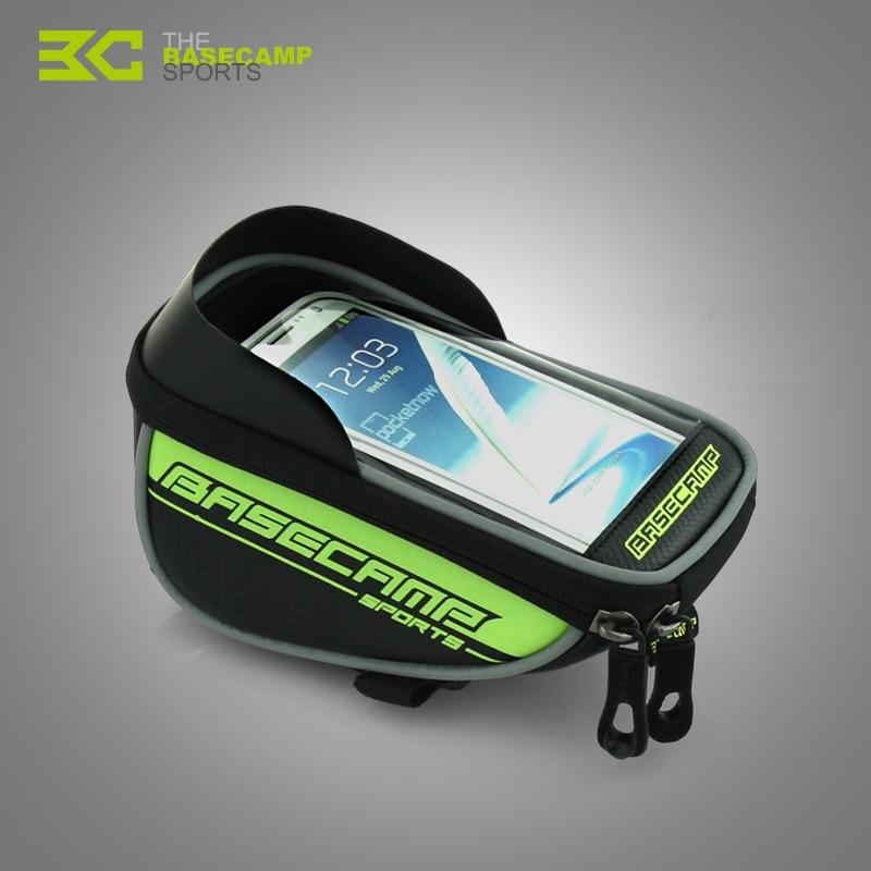 BaseCamp Bike <font><b>Phone</b></font> <font><b>Holder</b></font> Bicycle Bag For <font><b>iPhone</b></font> 5 5S 6 6S Plus Samsung LG GPS Mobile Waterproof Bags