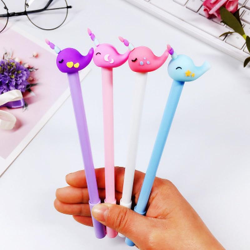 1pcs Whale Gel Pen Stationery 0.38mm Cute Pen Kawaii Cartoon Gel Pens Cute Pens And Pencils Stationery Kawaii School Supplies