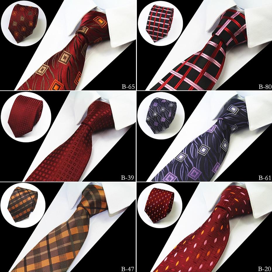 RBOCOTT Dot & Floral & Check Patterned Ties For Men Mens 7CM Necktie Business Party Accessories Cravattes Clear The Ties