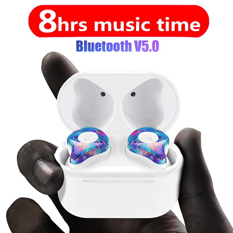 цена на New Mini BLuetooth In-ear Earphone Port Wireless Earphones Stereo in ear Bluetooth 5.0 Waterproof Wireless earphones headphones