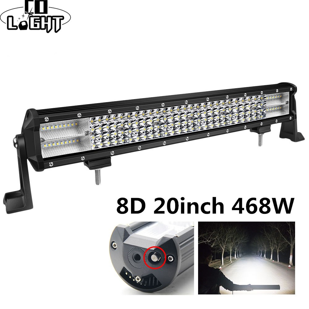 CO LIGHT 8D Led Bar 20Inch 468W 4X4 Led Worklight 12V 24V Spot Flood Led Light