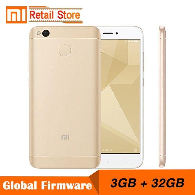 Оригинальный Xiaomi Redmi 4X мобильный телефон Snapdragon 435 Octa core Процессор 3 ГБ Оперативная память 32 ГБ Встроенная память 5.0 дюйма 13MP Камера 4100 мАч смартфон