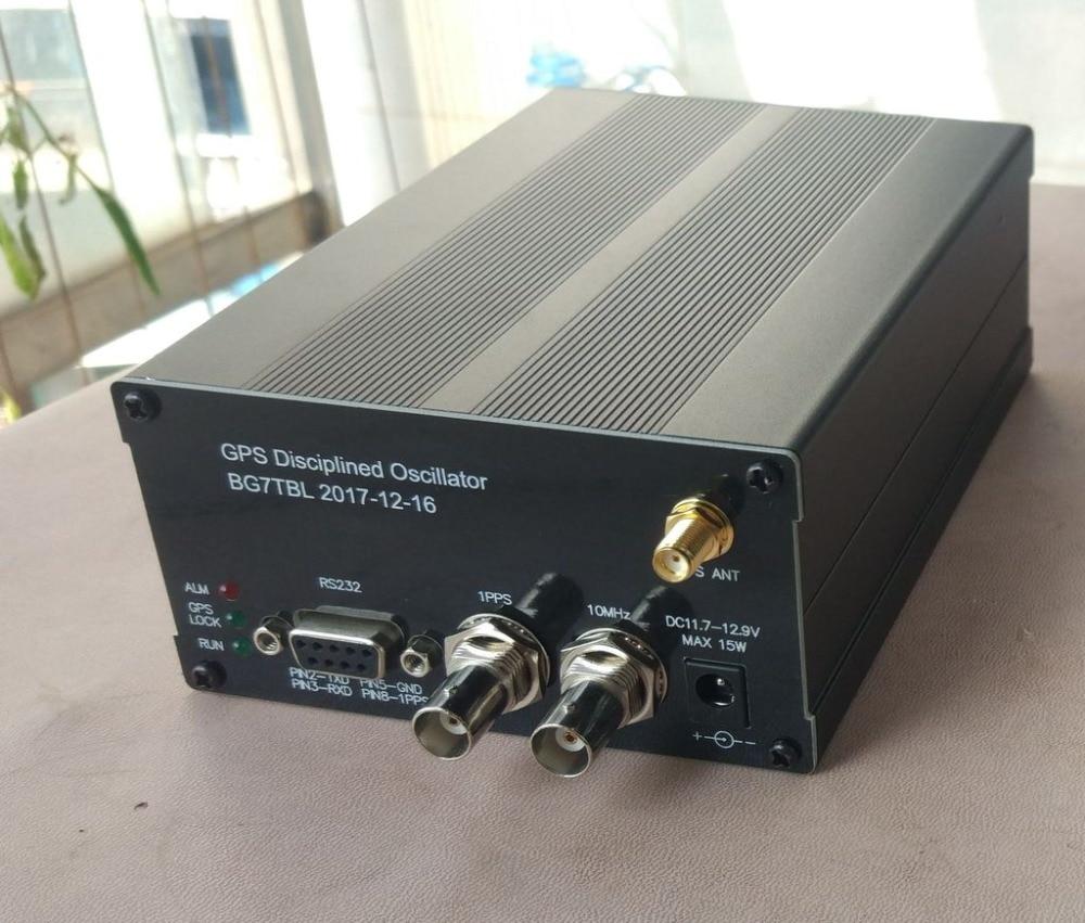 Horloge GPS GPSDO 10 M onde sinusoïdale avec écran LCD Message de fréquence oscillateur discipliné GPS + antenne + puissance-in Écouteurs from Electronique    1