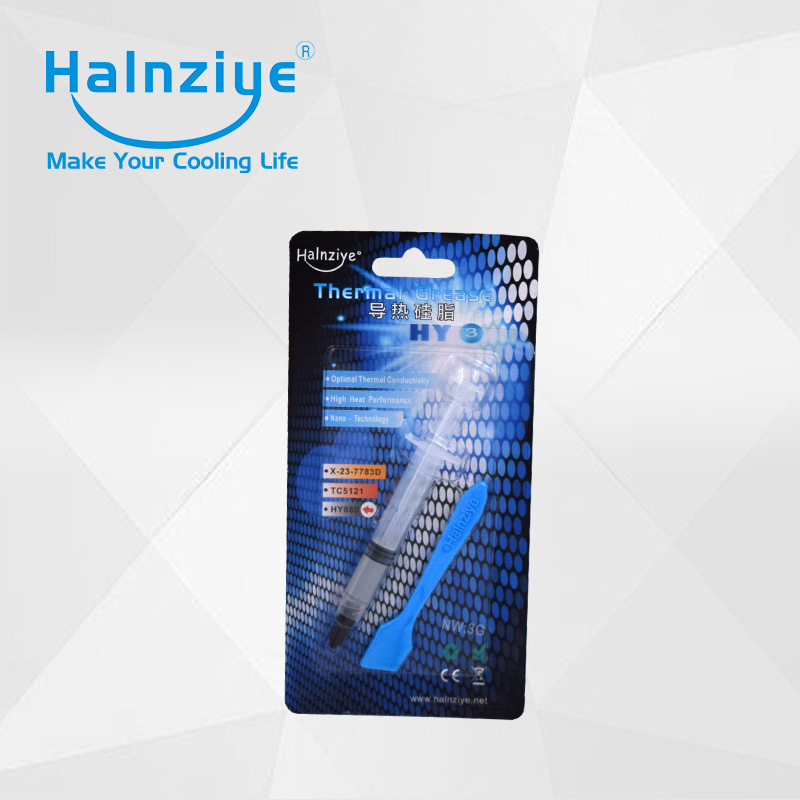 Halnziye nano Computer processor cooling paste compound grease with retail package HY880 wavelets processor