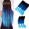 wholesale blue braiding hair High Temperature Fiber Box Synthetic Braiding Hair 100g/piece expression braiding hair extensions