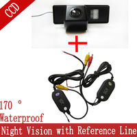 2 4 GHz Transmitter Receiver Wireless Car Camera Rear View Reverse Color Parking CCD HD