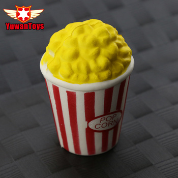 Cute Popcorn Squishy Jumbo Soft Slow Rising Squeeze  Soft Slow Rising Pop Corn with Cup Kid Toy Fun Gift jumbo squishy french fries chips slow rising