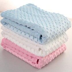76x102 centímetros Folha de Ponto Do Velo Do Bebê Cobertor Do Bebê Recém-nascido Swaddle Envoltório Envelope Envoltório Newborn Bebe Cobertor Da Cama De Bebê