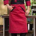 Sujeira branco preto vermelho metade longo marrom aventais garçom aventais aventais do cozinheiro chefe aventais mulheres & man