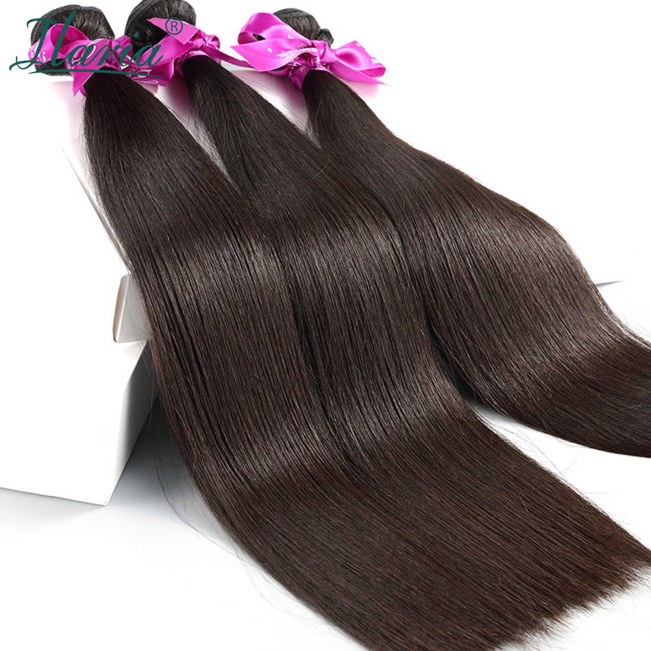 ILARIA HAIR 7A Peruvian Straight Virgin Hair Bundles 2Pcs/Lot 100% Human Hair Weave Remy Hair Weft Natural Color Top Quality