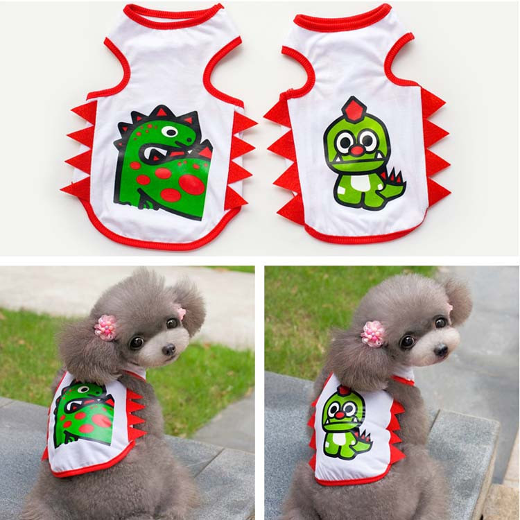 Breathable Pet Apparel Spring Summer Dog Cat Vest Puppy T-shirt Small Dogs Clothes For Chihuahua Youkie XS S M L XL XXL 8 Stylea