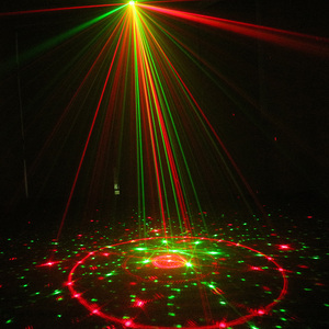 Image 4 - ALIEN 96 Patterns Dual Red Green Laser Projector Blue LED Stage Lighting Effect DJ Disco Club Party Wedding Light With Remote