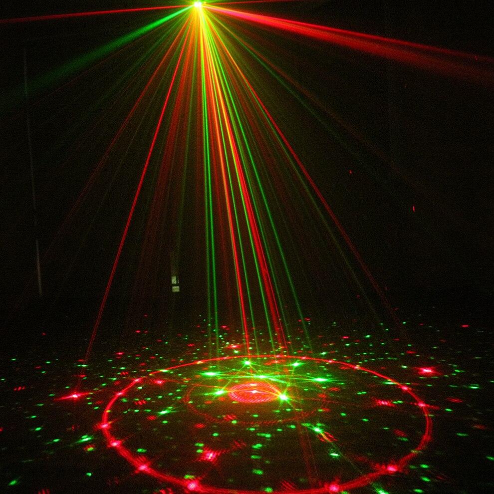 ALIEN 96 patrones Dual rojo verde Proyector láser azul LED escenario efecto Iluminación DJ discoteca fiesta boda luz con control remoto - 4