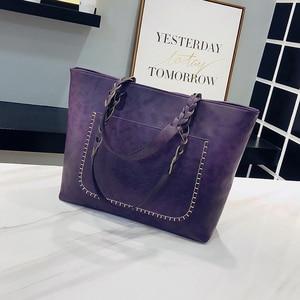 Image 4 - Moda kobiety PU skórzana torba torebki z frędzlami kobiety duża torba na ramię torby luksusowy projektant wysokiej jakości sac główna torebka Vintage na ramię