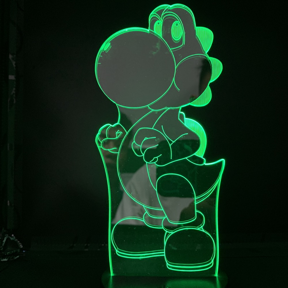 Q-version Dinosaur Yoshi Animal Led Night Light Nintendo Teenager Cartoon 3d Lamp Game Super Mario World LED Decorative Dropship