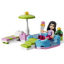 BELA friends 10124 friends for girl swimming pool Building Blocks Minifigures Model Bricks Toys lepin friends original
