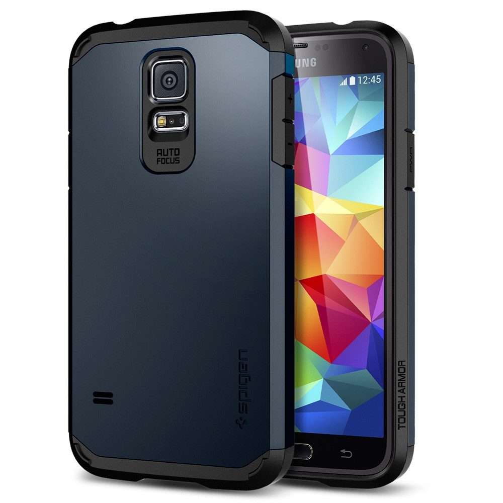 the latest d3dc8 8fa35 US $22.99 |For Samsung Galaxy S5 100% Original Spigen SGP Tough Armor Case,  EXTREME Protection Air Cushioned & Spider Web Pattern TPU Case on ...
